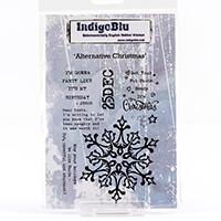 IndigoBlu A6 Red Rubber Cut Out Stamp-793101