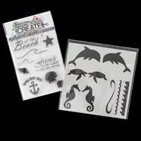 Imagine Design Create Better at the Beach A6 Stamp Set and Seasid-794942