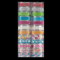 24 Reels of Self Adhesive Gems In Assorted Colours & Designs-795554