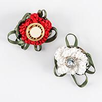 Kelanash Designs Set of 2 Button Brooch Kit - Ribbon, 2 x Brooch -795935