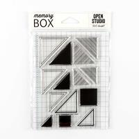 Memory Box Abstract Triangle Stamp Sets-796659
