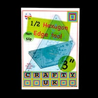 Crafty UK 1/2 Hexagon Edge Template-797230