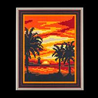 PixelHobby Sunset Kit - 4 x Baseplates & 64 x Pixelsquare Sheets-798987