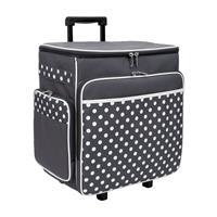 Sewing Online Trolley Storage Case 36 x 25 x 39cm - Grey & White -799942
