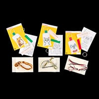 Permin Set of 3 Animal Keyrings Cross Stitch Kits-801260