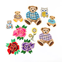Craft Buddy Set of 10 Assorted Iron On Embroidered Appliques-801459