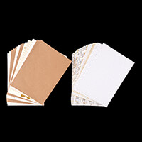A5 Backing Card & Embellishment Kit - 95 Sheets-801763