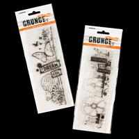 StudioLight 2 x DL Clear Grunge Stamp Sets - Butterfly and Flower-802097