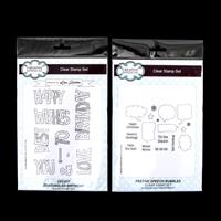 Set of 2 x Stamp Sets - Festive Speech Bubbles & Zentangled Birth-802145