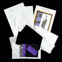Quilt Dragon Kits - Art Deco Cat Patchwork & Silhouette Mini Wall-803427