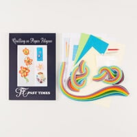 Past Time Quilling Flowers For Cards & Interiors Quilling Kit-804694
