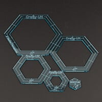 Crafty UK Set of 5 Nested Hexagons- 1