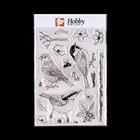 Hobby Art Janie's Collection - Birds, Bugs & Blossoms A5 Clear St-807181