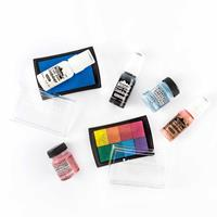 Ink & Pigment Collection - 2 x Distress Crackle Paints, 3 x Acryl-807998