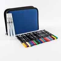 Izink 20 x Dye Ink Pens with Storage Case & Small, Medium & Large-808711