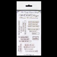 Bee Crafty WORDage Stamp Set - Ticker Tape 1 - 7 Stamps-809042
