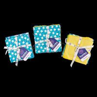 Threaders - Tokyo Blue - 3-Piece Fat Quarters - Set 1 & 2 with 5