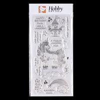 Hobby Art Unicorn Kisses DL Clear Stamp Set Designed by Lisa Pear-809819