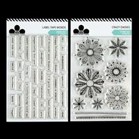 Craftwork Cards Label Tape Words and Crazy Daisies Stamp Sets - 4-810211