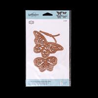 Spellbinders Flutter Wing Shadowbox Butterflies Die Set - 7 Dies-810592