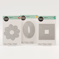 Sizzix Framelits Die Set - Flowers, Ovals & Square-811574