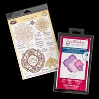 JustRite® Stamp Set & Spellbinders Die Set - Vintage Labels & Lab-815360