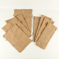 Craft Buddy Set of 8 Jute Bags  - 4 of 35 x 25cm and 4 of 15 x 35-815632