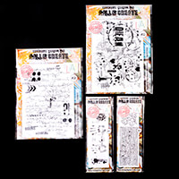 AALL & Create 4 x Stamps - A4 Scribble it & A4 Layered Grunge, Ha-816144