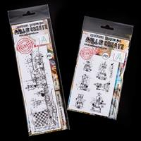 AALL & Create 2 x Stamp Sets - Chess Art & Chess Pieces - 8 Stamp-816397