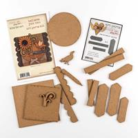 Studio 490 2 x Packs of Art Parts MDF's - Believe You Can & Senti-817875