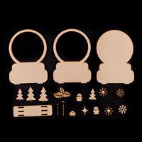 Samantha K Snowglobe Set - Snowglobes, Trees, Lamposts, Snowflake-818363