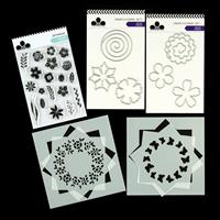 Craftwork Cards Build a Wreath Collection - 4 Stencils, 19 Stamps-819388