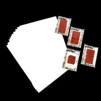 Artful Days 4 x Mini Stamps & 10 x Sheets A4 Stamping Paper 200gs-819497