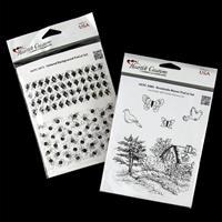 Heartfelt Creations 2 x Stamp Sets - Brookside Manor & Tattered B-820761