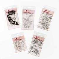 Woodware 5 x Stamp Sets - Flower, Bird, Sunflower, Blooms & Botan-824264