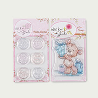Wild Rose Studio 2 x A7 Stamp Sets - Cat & Moon and Bear with Gif-824725