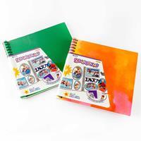 Set of 2 Scrapbook Albums - Green & Rainbow - 10