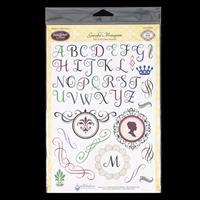 JustRite® Stamp Set - Graceful Monograms - 43 Stamps Total-826635
