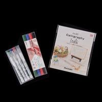 Zig 4 x 1mm Calligraphy Pens, Zig Scroll & Brush Pen Set & A to Z-827495