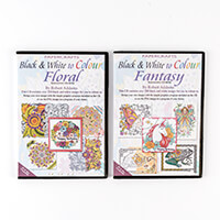 Robert Addams Black & White to Colour Floral & Fantasy CD-Rom Mul-828425