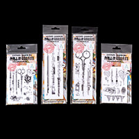 AALL & Create 4 x Stamp Sets - Brushes, Scissors. Light Bulb and -828544