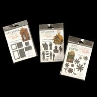 Studio 490 Art Parts Set of 3 MDF Kits - Florals, Moustache Men &-830437