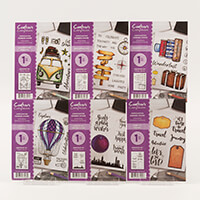 Crafters Companion 6 x A6 Rubber Stamps - Travel Collection 55 St-830725