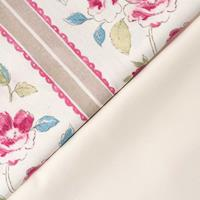 The Millshop Online - Taupe Peony Stripe 100% Heavy Weight Cotton-831244