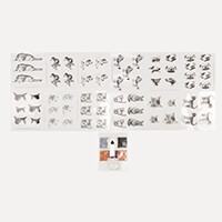 Art & Craft Glitter Greetings Pack of 12 Acetates - Cats and Dogs-831373