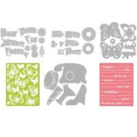 Sizzix® Thinlits™ Set of 29 Dies & 2 Embossing Folders - Bonjour -833406