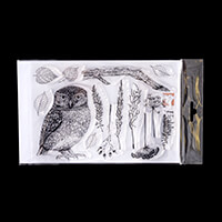 Hobby Art Janie's Collection - Little Owl A5 Clear Stamp Set - 14-834062
