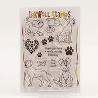 Inkwell Dogs Stamp Collection - Includes 12 Stamps-834204