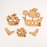 Karacter Krafts Ship Ahoy Pirate Ships - Small, Medium & Large-834326