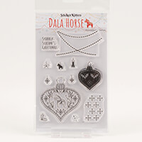StickerKitten Dala Horse Ornament A6 Stamp Set - 12 Stamps-834662